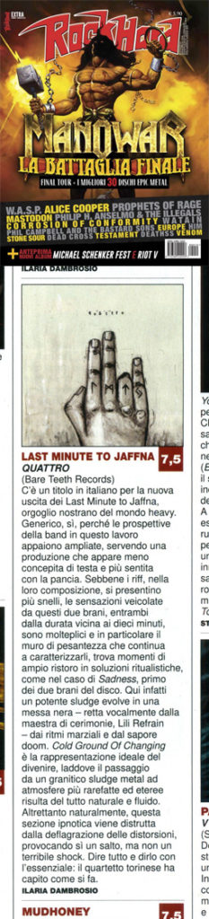 Rock Hard Italy reviews Quattro
